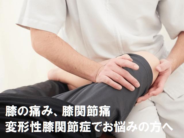 膝の痛み・変形性膝関節症でお悩みの方へ