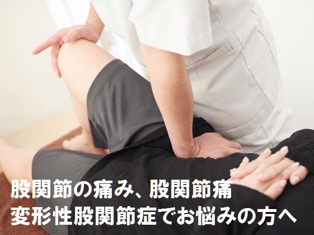 股関節の痛み・変形性股関節症・鼠径部痛症候群(グロインペイン症候群)でお悩みの方へ